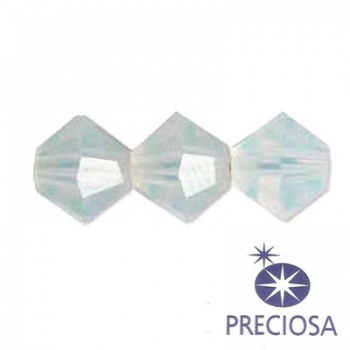 Bicono Preciosa  White Opal 4mm