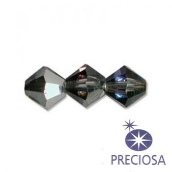 Bicono Preciosa Crystal Heliotrope 6mm