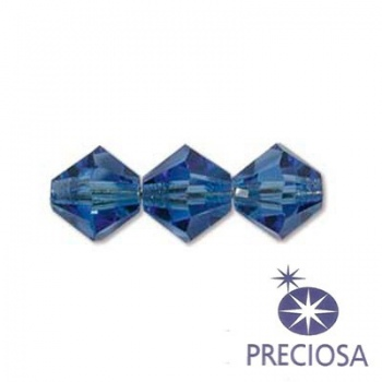 Bicono Preciosa Sapphire 6mm