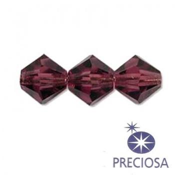 Bicono Preciosa Amethyst 6mm