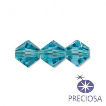 Bicono Preciosa Aquamarine 6mm