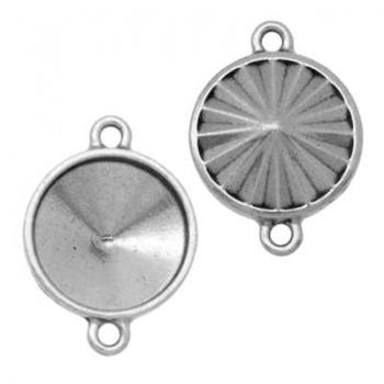 Castone Per Rivoli (1122) 18mm Argentato Rodiato (2 anellini)