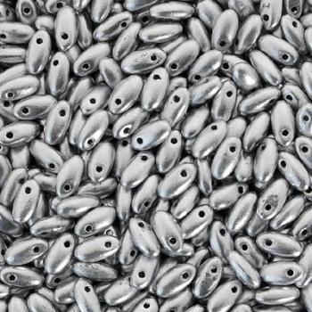 Perline Rizo 2,5x6mm Aluminium Silver