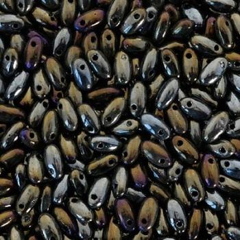 Perline Rizo 2,5x6mm Brown Iris