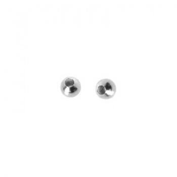 Distanziatore Liscio Pallina Argentata 2,4mm
