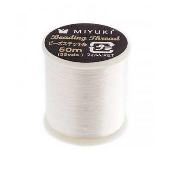 Filo Nylon Miyuki Eggshell-Misura 0,25mm-Bobina da 50mt