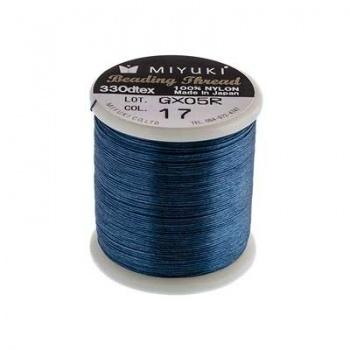 Filo Nylon Miyuki Dark Blue-Misura 0,25mm-Bobina da 50mt