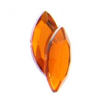 Navetta Acrilico Sfaccettata Orange 15x7mm