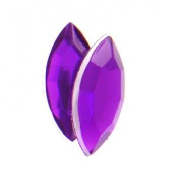 Navetta Acrilico Sfaccettata Purple 15x7mm