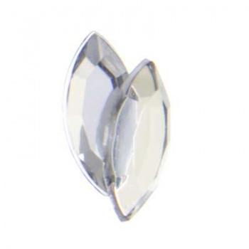 Navetta Acrilico Sfaccettata Crystal AB 15x7mm