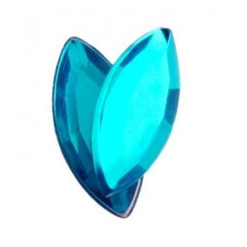Navetta Acrilico Sfaccettata Turquoise 15x7mm