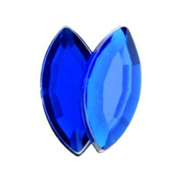 Navetta Acrilico Sfaccettata Royal Blue 15x7mm