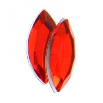 Navetta Acrilico Sfaccettata Bright Red 15x7mm