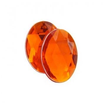 Cabochon Acrilico Ovale Sfaccettato Orange 18x13mm