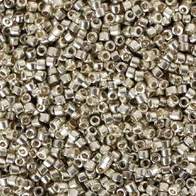 Perline Delica Miyuki 11/0 Duracoat Galvanized Silver