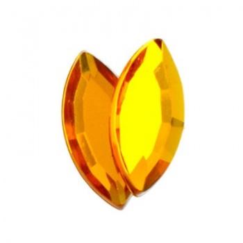 Navetta Acrilico Sfaccettata Marigold 15x7mm