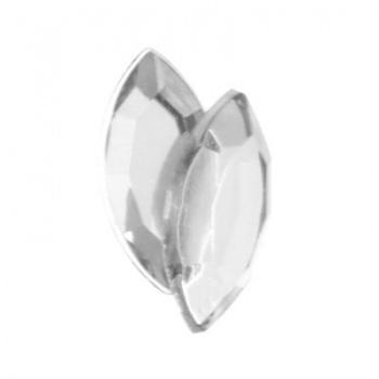 Navetta Acrilico Sfaccettata Crystal 15x7mm