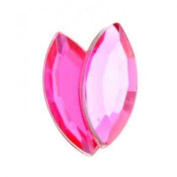 Navetta Acrilico Sfaccettata Hot Pink 15x7mm