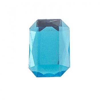 Cabochon Ottagono Acrilico Sfaccettato Aqua 18x13mm