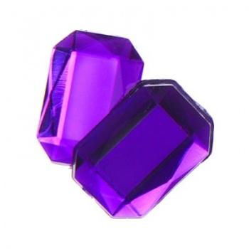 Cabochon Ottagono Acrilico Sfaccettato Purple 18x13mm