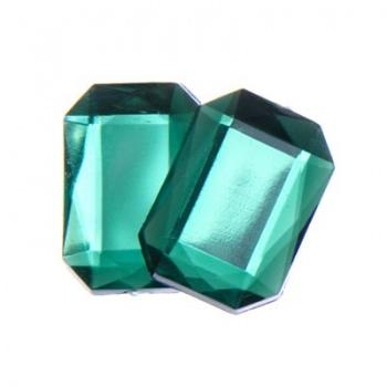 Cabochon Ottagono Acrilico Sfaccettato Emerald Green 18x13mm