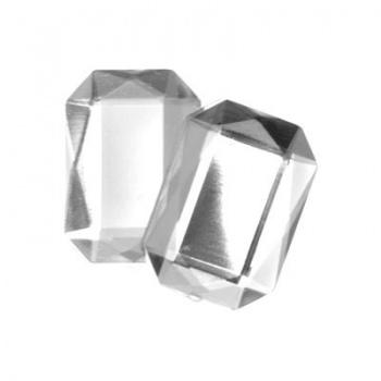 Cabochon Ottagono Acrilico Sfaccettato Crystal 18x13mm