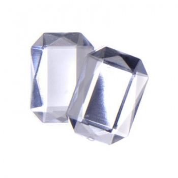 Cabochon Ottagono Acrilico Sfaccettato Crystal AB 18x13mm