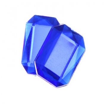 Cabochon Ottagono Acrilico Sfaccettato Royal Blue 18x13mm