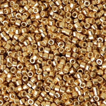 Perline Delica Miyuki 11/0 Duracoat Galvanized Gold