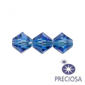 Bicono Preciosa Light Sapphire 6mm