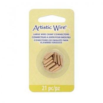 Schiaccini Tubo Artistic Wire-Brass Color-Tre Misure Lunghezza 10mm