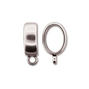 Componente Per Regaliz 10x7mm Silver Plated Con Gancio19mm