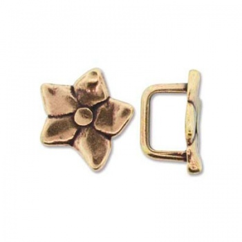 Componente Per Regaliz 10x7mm Brass Plated Fiore 16mm