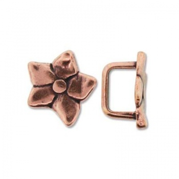 Componente Per Regaliz 10x7mm Copper Plated Fiore 16mm