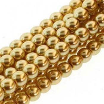 Perla Cerata Vetro Tondo Liscio Gold 2mm (Filo 150 pz )