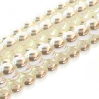 Perla Cerata Vetro Tondo Liscio White 10mm (Filo 50 pz )