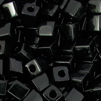 Perline Cubi Miyuki 4mm Square Black