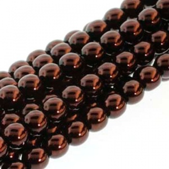 Perla Cerata Vetro Tondo Liscio Bronze 2mm (Filo 150 PZ)