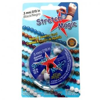 Filo Elastico Stretch Magic Nero 0,5mm