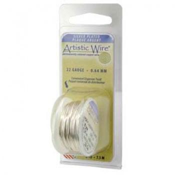 Filo Artistic Wire Argentato Diametro 0,32mm