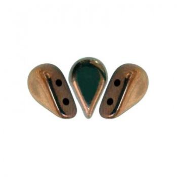 Perline Amos® par Puca®-Dark Bronze-8x5mm