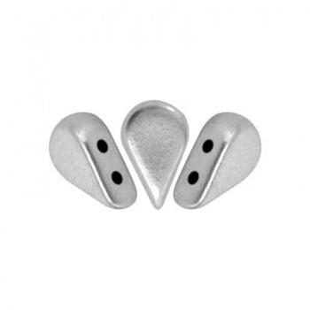 Perline Amos® par Puca®-Aluminium Silver -8x5mm