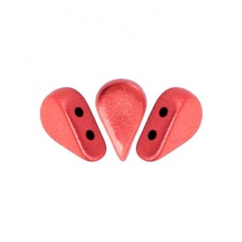 Perline Amos® par Puca®-Matte Metallic Red-8x5mm