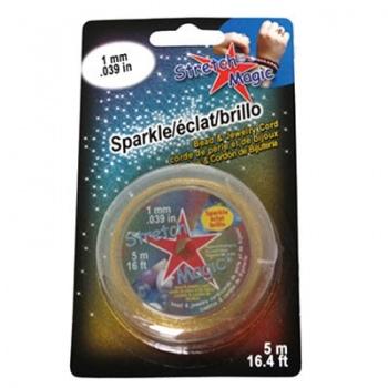 Filo Elastico Stretch Magic Sparkle Gold 1mm