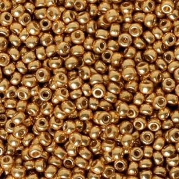 Perline Rocailles Miyuki 8/0 Duracoat Galvanized Gold