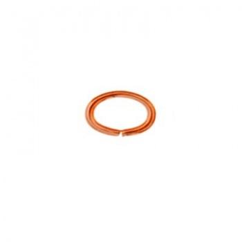 Anellino Aperto Ovale Rame 6x8mm Diametro 1,27mm