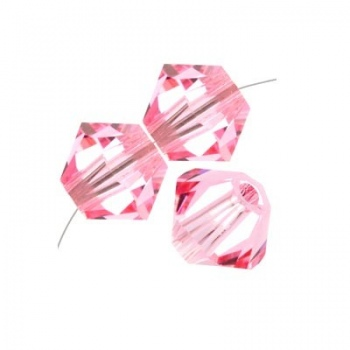 Bicono Swarovski Light Rose 3mm