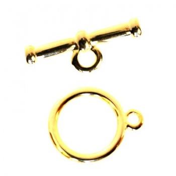 Chiusura T-Bar Oro Lucido 30mm