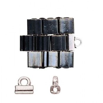 Soros-Terminale Per Perline Tila-Argentato Anticato 5x2mm