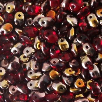 Perline Superuno 2,5x5mm Ruby Capri Gold